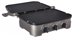 Cuisinart Griddler Gourmet Contact Grill, Panini Press, Full Grill, Full Griddle, and Half Grill/Half Griddle
