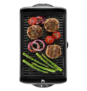 New House Kitchen Electric Smokeless Indoor Grill, Portable Kitchen Griddle