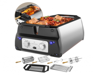 ChefWave Smokeless Indoor Electric Grill & Rotisserie